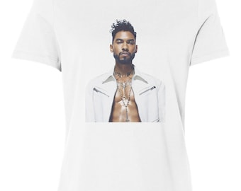 Miguel R N B Custom Women's Relaxed Fit Tee T-Shirt New-White