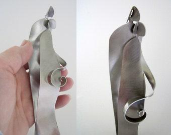 "Baby Shower Gift - ""WAITING"" - metal sculpture miniature"
