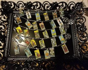 Major Arcana Tarot card bracelet. 6 card.