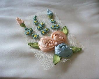 antique authentic ribbon work divine