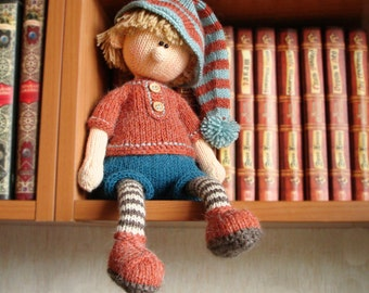 Knitting pattern doll Toy knitting  pattern Knitted doll  boy Pattern PDF for knitted Elf Doll making DIY knitted toy Martin the House Elf