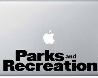Parks and Recreation Vinyl Macbook Sticker
