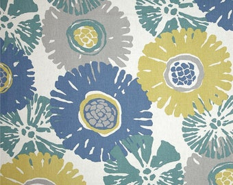 Starburst Ocean, Magnolia Home Fashions - Cotton Upholstery Fabric By The Yard