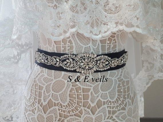 Black Wedding Belt | dress belt, belt with sash, black color