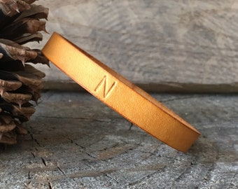 Leather Bracelet Personalized, Leather Bangle Bracelet Personalized, Leather Bracelet, Leather Bangle, Leather, You Choose Color