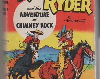 1946, Red Ryder and the Adventure at Chimney Rock, by Fred Harman, Hardcover Old West Book.  VF-.  Whitman Publishing Company.