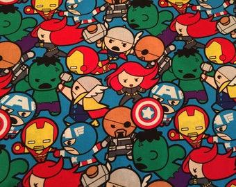Travel Pillow Case / Child Size Pillow Case / Kawaii Super Hero's / Standard Pillow Case