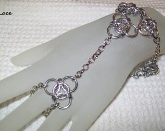 Lace Chainmaille Slave Bracelet