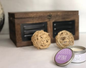 Natural Soy Candles - Hand Poured Soy Candles, Soy Candle Tin, Scented Soy Candles, Handmade Candles, Candles, Container Candles, Lavender