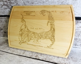 Cape Cod Map Cutting Board - Personalized - House Warming - Wedding Gift - Unique Gift