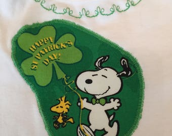 Happy Saint Patrick's Day from Snoopy and Woodstock!  Perfect long sleeved 9 month onesie for any baby, Irish or not!