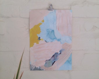A4 Painterly pastel Art Print / Wall art