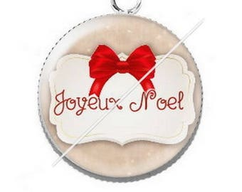 Pendant cabochon resin Merry Christmas happy holidays 4
