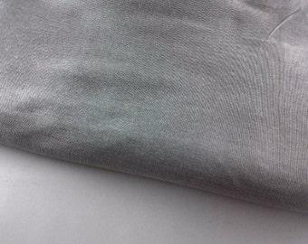 Grey Indian Art Silk Fabric By The Yard, Silver Gray Silk Dupioni Fabric, Bridal Flower Girl Dupioni Silk Fabric, Indian Fabrics Store