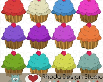 Sweet Treats Cupcakes Digital Clip Art