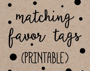 """Printable Favor Thank You Tags to Match any Invitation Design from OhCreativeOne, 2"""" Circles or Squares, DIY digital file"""