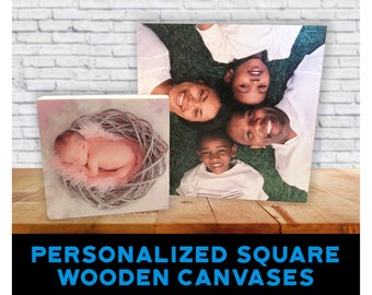 "Personalized Art ""Square Wooden Canvases"""