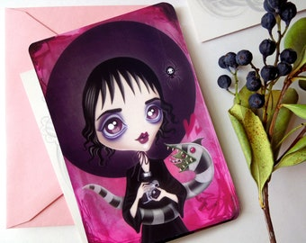 Lydia Deetz Postcard, Strange and Unusual, Limited Edition, Postcrossing, Snail Mail, Swap
