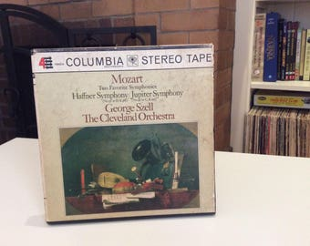 """Stereo Tape - Haffner Symphony/Jupiter Symphony, George Szell The Cleveland Orchestra - """"Mozart The Favorite Symphonies"""" (Columbia)"""