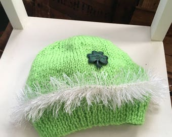 St Patrick's Day Knitted Baby Hat