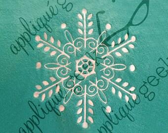 Delicate Ornate Snowflake Embroidery Design