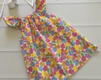 Girls Dress, Easter Dress, Size 3, Flutter Sleeve Dress, baby dress, baby gift, pastel dress, toddler dress, summer dress, party dress,