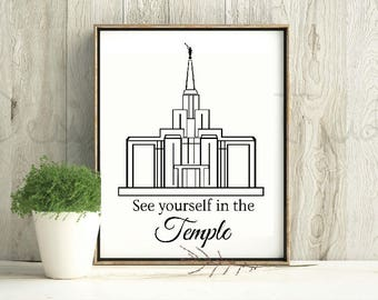 LDS small temple graphic / see yourself in the temple / temple svg / lds temple svg / calgary temple / lds small temple print