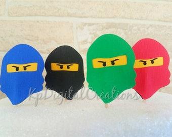 Ninja go cupcake topper