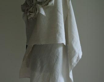 Linen Shawl Beige/ Natural by NervousWardrobe on Etsy