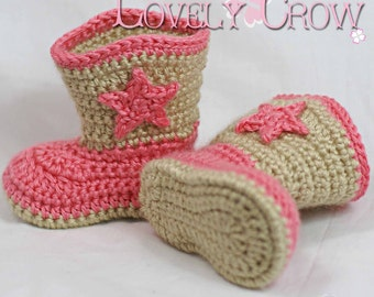 Crochet Pattern Cowboy Boots  for Baby BOOT SCOOT'N BOOTS digital