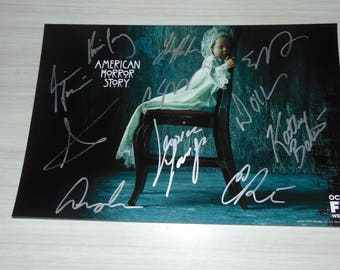 Authentic American Horror Story Autographed Photograph Evan Peters Emma Roberts
