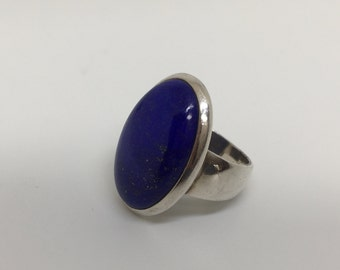 Lapis Lazuli and  Sterling Ring size 5.5