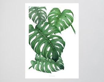 Tropical No. 2 / Grün, Palmenblätter, Fine Art Print, Wall