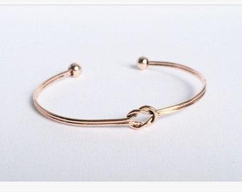 Rose gold knot bracelet: Friendship Gift