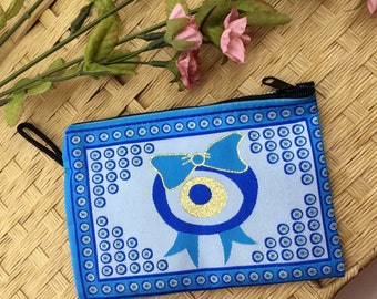Wallet Phone Case - Evil Eye Wallet - Coin Purse - Authentic Pouch - Accessory Storage - Cosmetic Storage - Makeup Bag - Perfect Gift