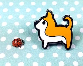 Chihuahua enamel pin 2cm - dog chiwawa cute lapel pin brooch badge flair collar pin hat pin nature animal