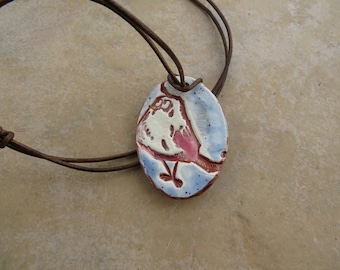 Whimsical Bird Essential Oil Pendant, EO Diffuser Necklace, Bird Perfume Pendant, Aromatherapy Necklace