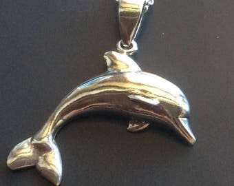 Dolphin Pendant In Solid 925 Sterling Silver