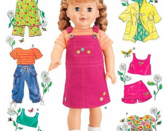 Simplicity 4654- Sewing pattern for 18 Inch Doll Clothes- Fits American Girl Dolls