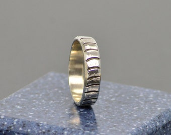 Hand Stamped Sterling Band