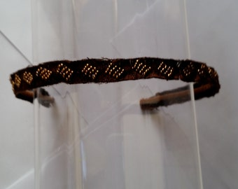 Brown Beaded Trim Headband, for weddings, parties, special occasions