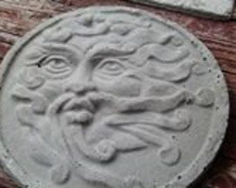 Concrete Garden Art - Stepping Stone - The Wind Man