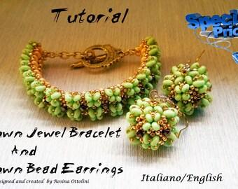 """Tutorial of set """"Crown Bead Earrings"""" and """"Bangle Crown Jewel"""""""