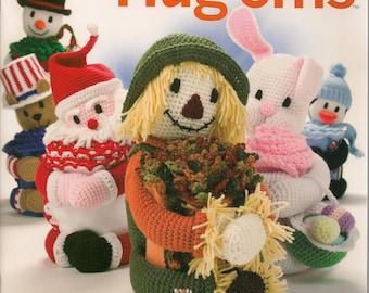 Crochet Patterns,Crochet Book,Holiday Hug'ems,Huggable Holiday Characters,Edged Crochet Blankets,Crochet Scarecrow,Crochet Santa Blanket