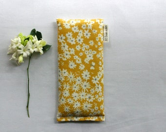 Mothers Day Eye Pillow, Lavender and Flax Seed Eye Pillow - Mustard Daisies Scented Gift Relaxation Yoga Meditation