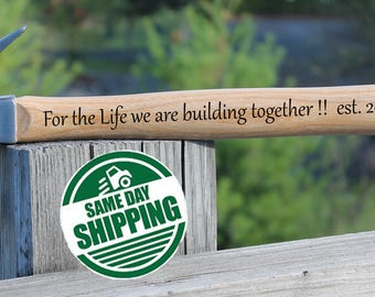 engraved hammer, fathers day gift for husband, Husband Fathers Day, Husband Fathers Day Gift, Engraved Hammer Building a Life Together