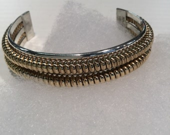 Carolyn Pollack Southwestern Sterling Silver And Gold Filled Cuff Bracelet