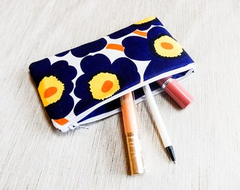 Marimekko Make Up Bag/ Gift for Her/ Gift for Wife/ Girlfriend Gift/ Pencil Case/ Coworker Gift/ Pouch/ Gift for Women/ Mothers Day Gift