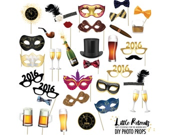Photo Props. Instant Download. Printable. Black Tie. Photo Booth Props Photobooth Props. nye. New Years Eve Party.