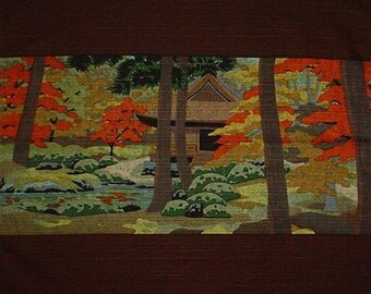 Masao Ido 'Sanzenin' Furoshiki Japanese Fabric Cotton 48cm w/Free Insured Shipping